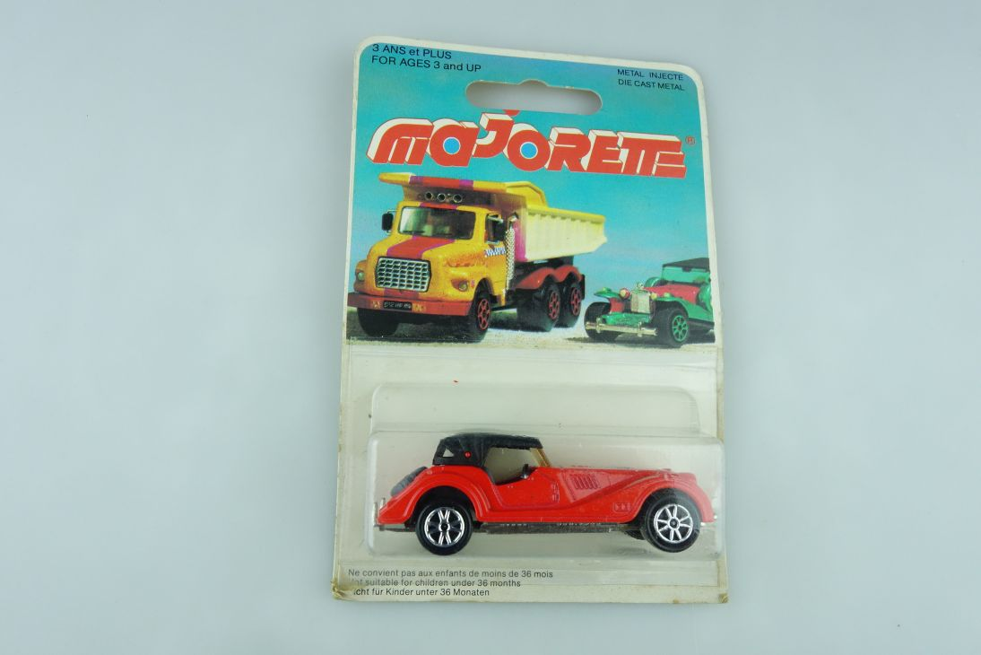 261 Majorette 1/50 Morgan Plus 8 Roadster rot red made in France Box 510992