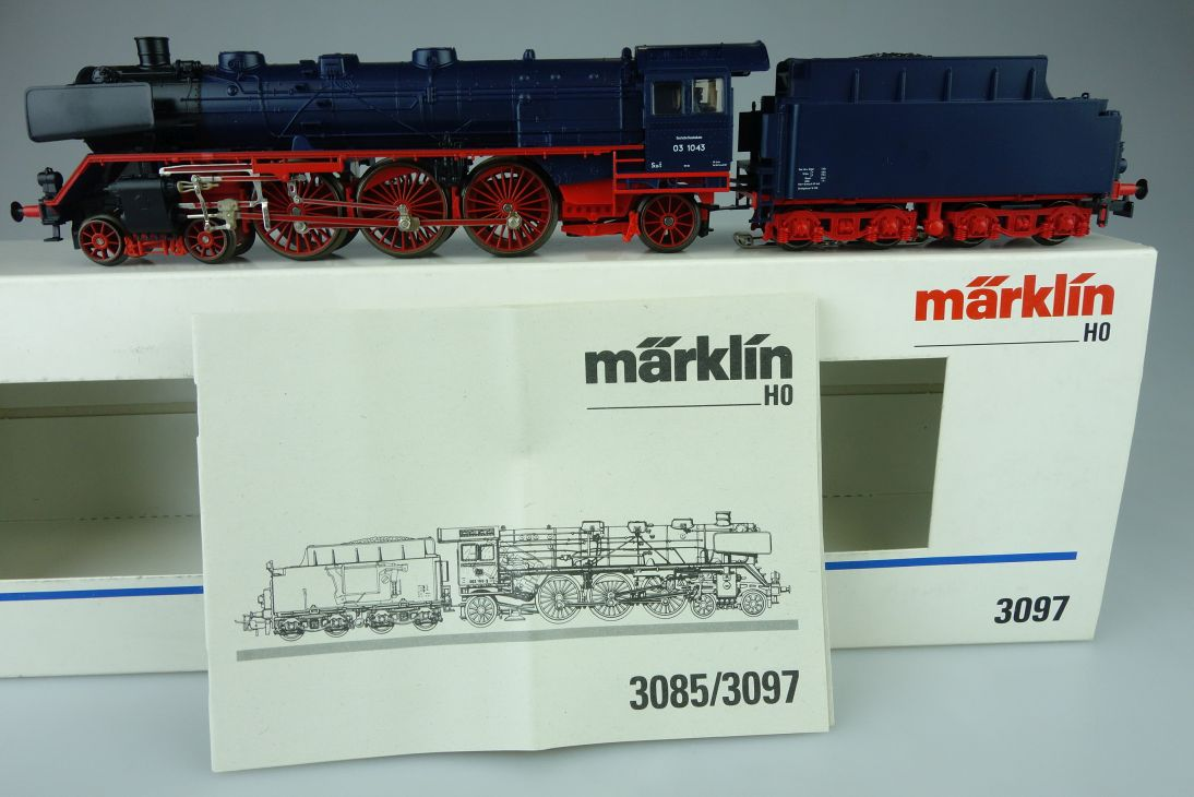 Märklin Digital H0 AC 3097 BR 0310 in blau DB Dampflok Decoder 6090 PTa 108142