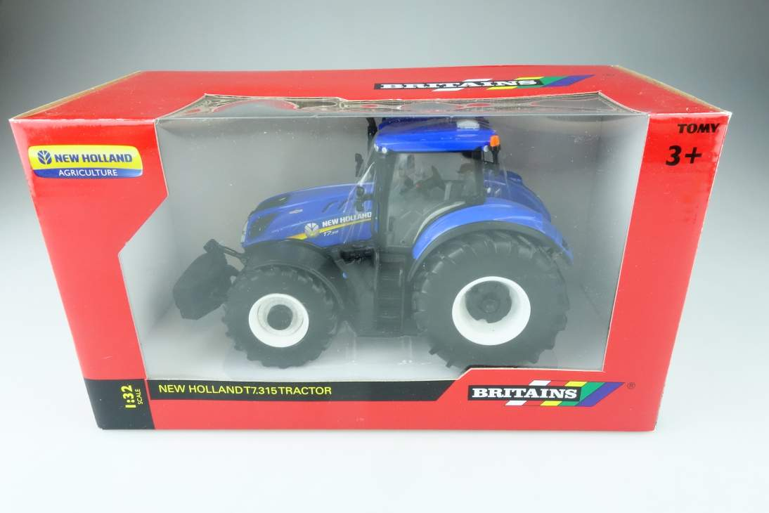 Britains 1/32 New Holland T7.315 Tractor + Box 108168