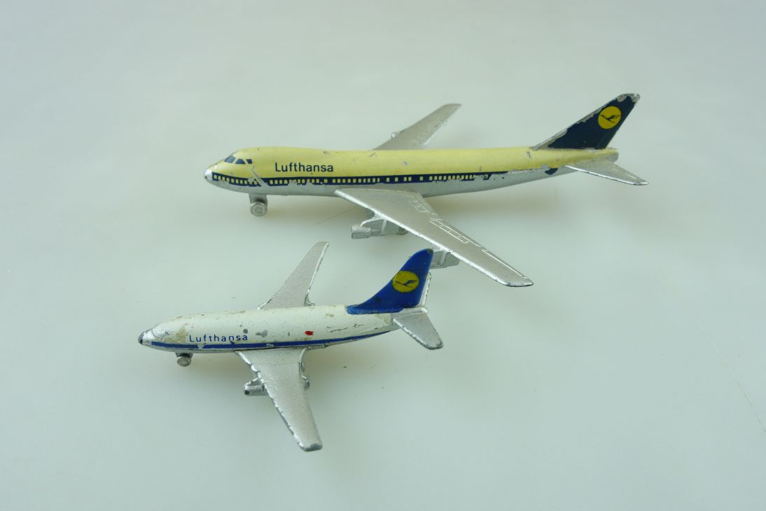 784 Schuco 1/500 Boeing Jumbo 747 und 737 Flugzeug Konvolut ohne Box 511360