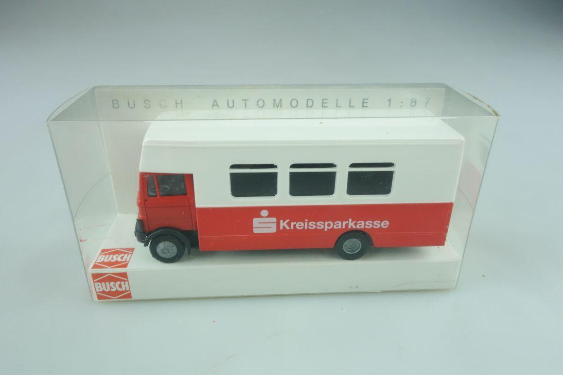 40723 Busch 1/87 Mercedes Benz LP 809 Kreissparkasse Bus mit Box 511372