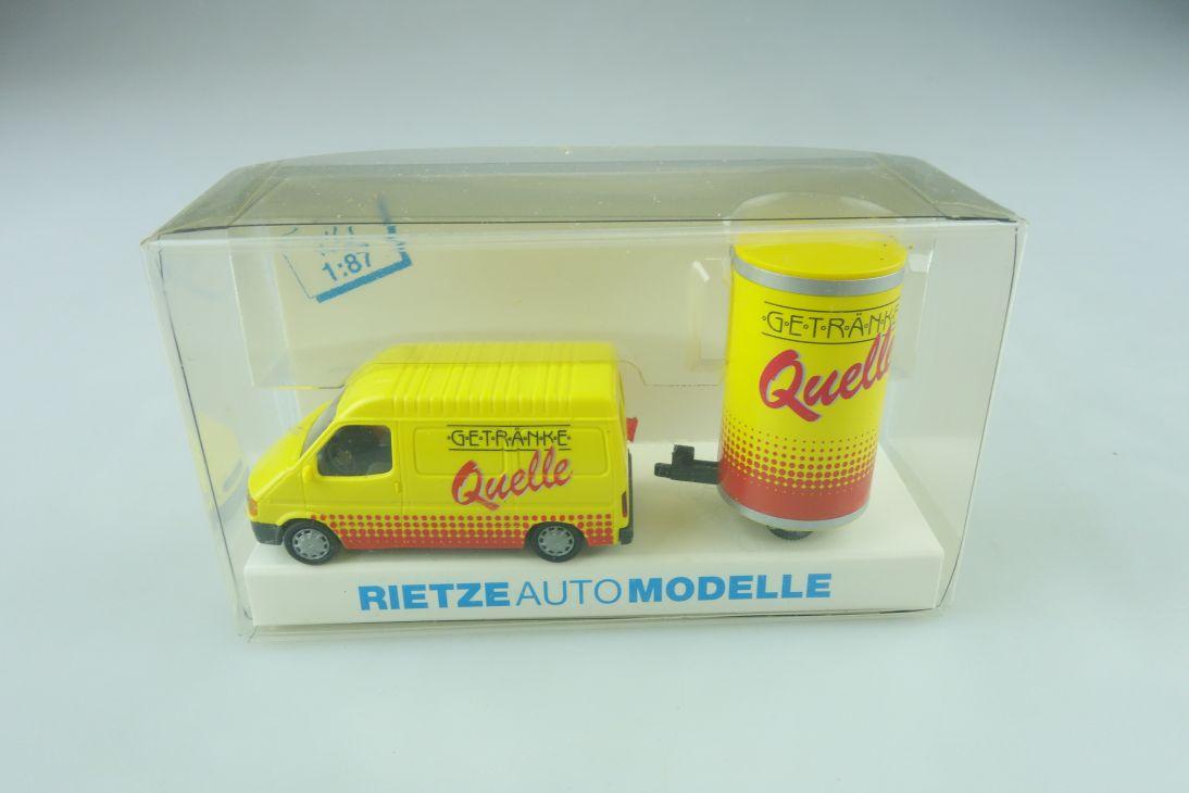 Rietze 1/87 Ford Transit mit Trailer Getränke Quelle mit Box 511373