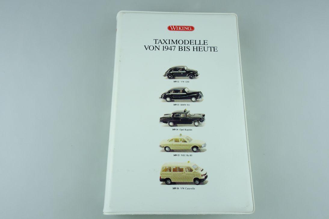 Wiking 1/87 Taximodelle von 1947 bis heute Mercedes Opel VW NSU mit Box 511375