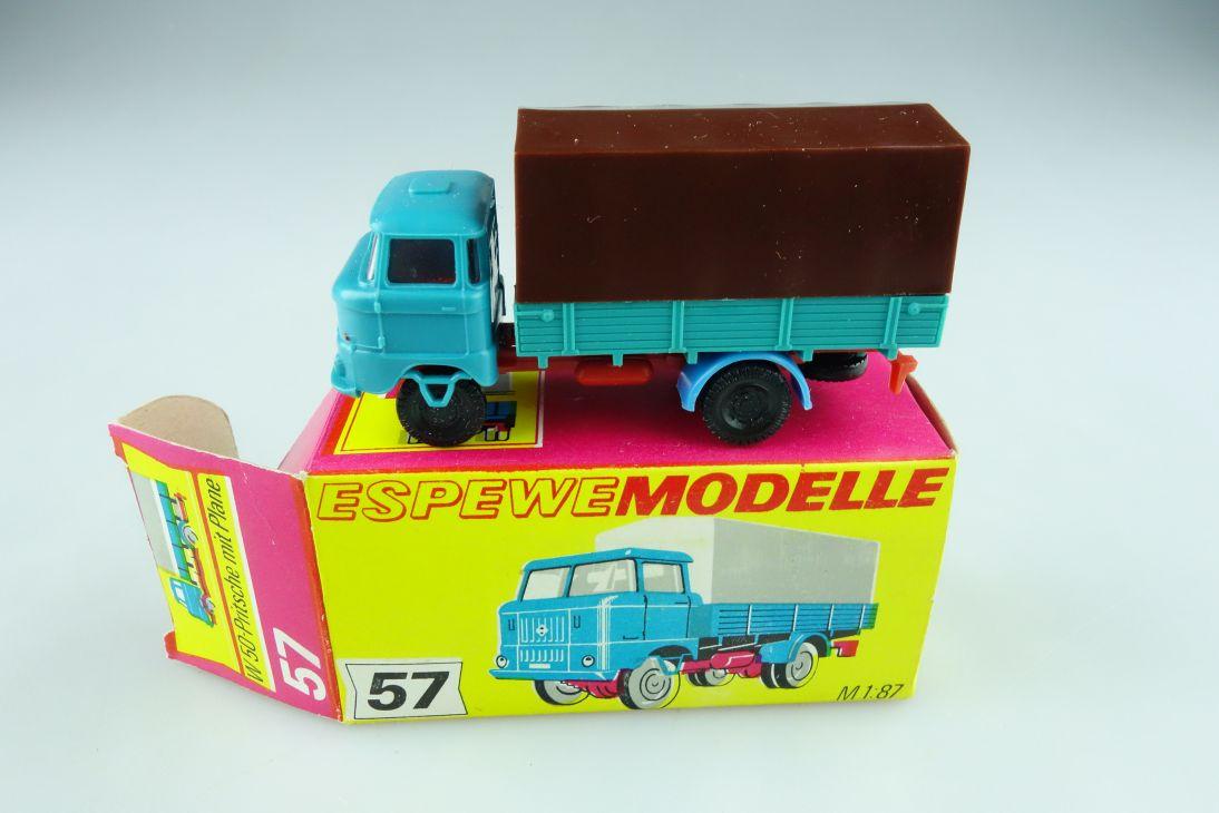 1057 Espewe 1/87 IFA W 50 Pritschenwagen mit Plane DDR mit Box 511391