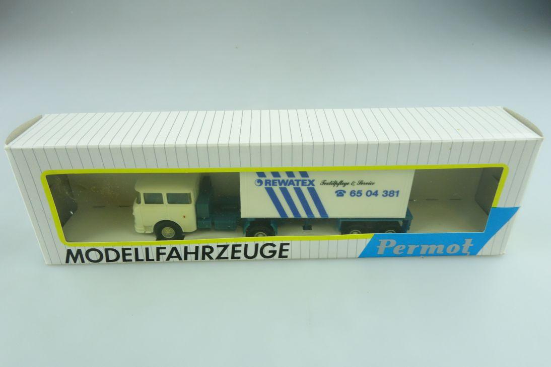 131 Permot 1/87 Skoda Truck LKW Revatex Container Auflieger DDR mit Box 511401
