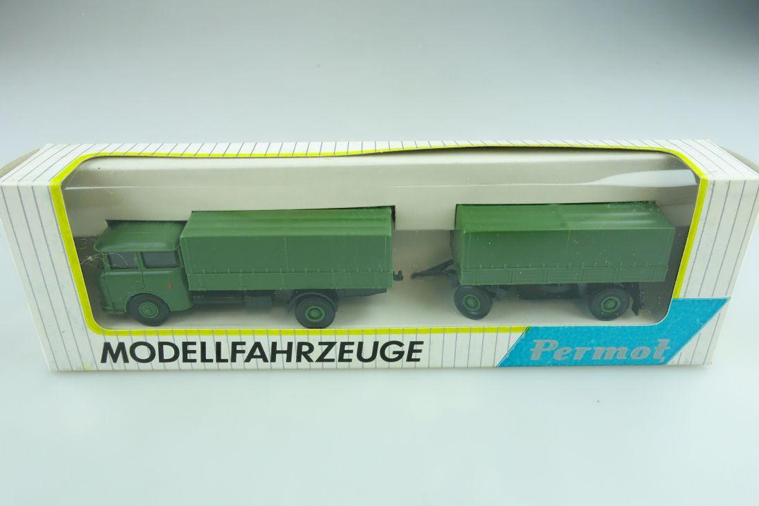 121 Permot 1/87 Skoda Truck LKW Lastzug Plane Militär NVA DDR mit Box 511404