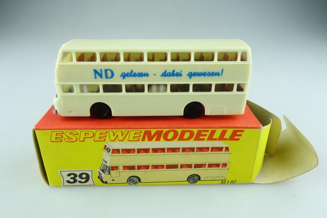39 Espewe 1/87 Büssing Präfekt Doppelstockbus DDR mit Box 511418