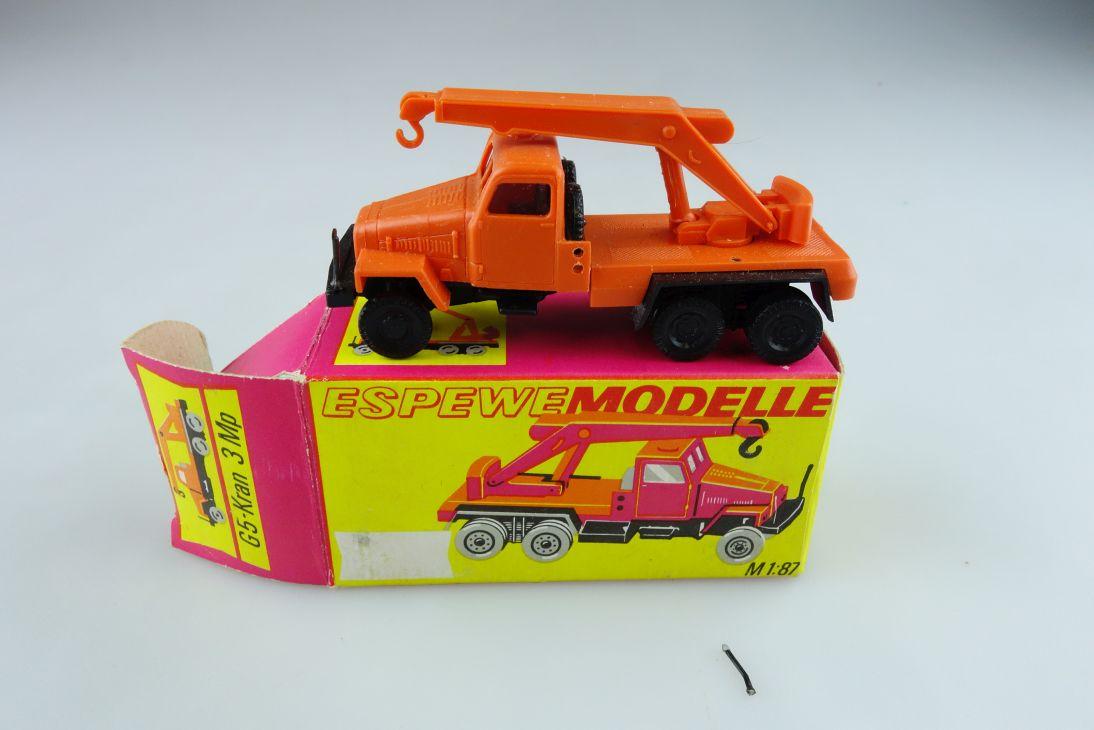 1021 Espewe 1/87 IFA G5 mit Mobilkran 3 Mp DDR mit Box 511422