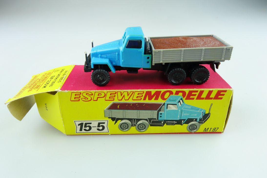 1015/5 Espewe 1/87 IFA G5 Pritsche mit Ladung DDR mit Box 511424