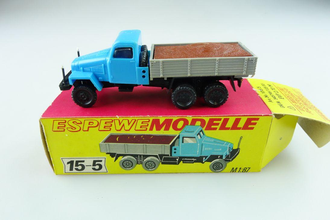 1015/5 Espewe 1/87 IFA G5 Pritsche mit Ladung DDR mit Box 511425