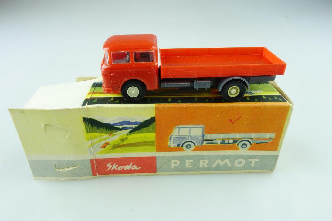 9682/399/1 Permot 1/87 Skoda Pritschen LKW Truck cccp DDR mit Box 511437