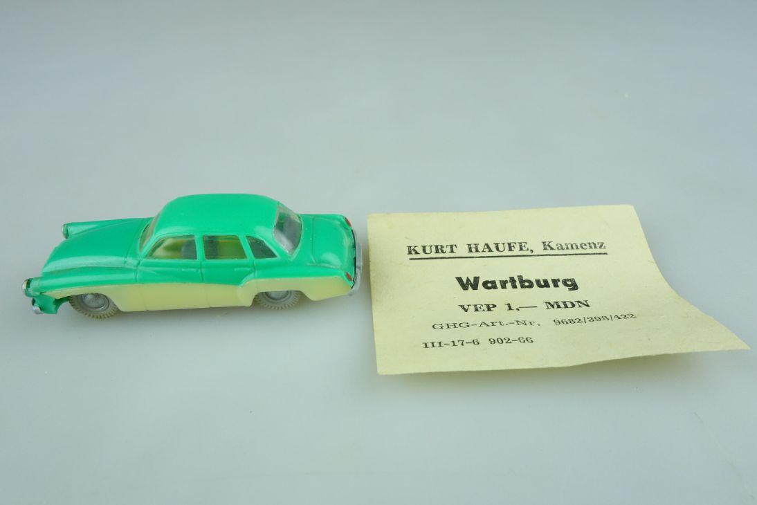 Haufe H0 Wartburg 311 Pkw Limousine DDR 1963-68 hellgrün/creme VEB 108412