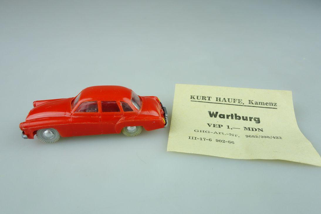 Haufe H0 Wartburg 311 Pkw Limousine Feuerwehr ? DDR 60er einfarbig VEB 108416