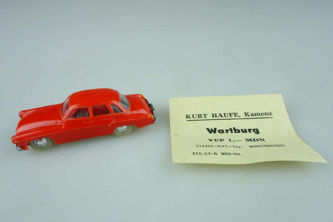 Haufe H0 Wartburg 311 Pkw Limousine Feuerwehr ? DDR 60er einfarbig VEB 108417