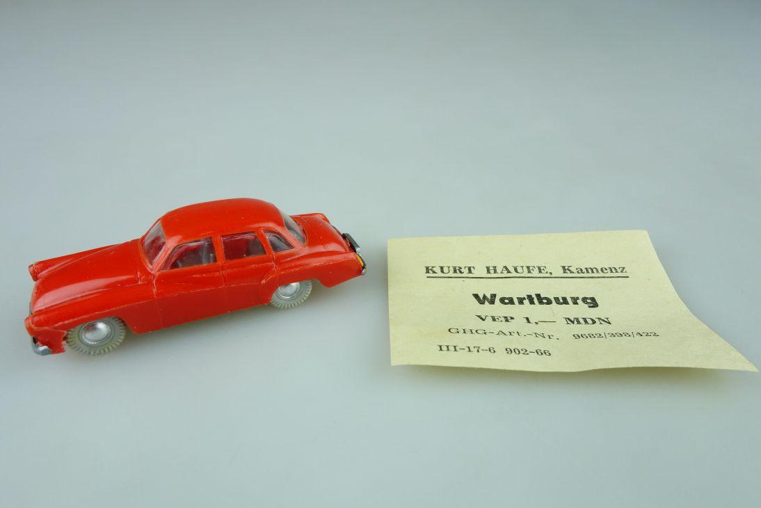 Haufe H0 Wartburg 311 Pkw Limousine Feuerwehr ? DDR 60er einfarbig VEB 108418