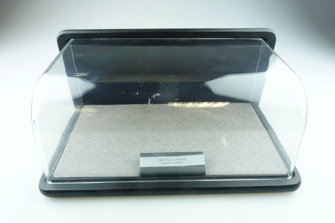 Franklin Mint 1/24 Plexiglasvitrine Rolls Royce Etikett leer oder Altern. 511473