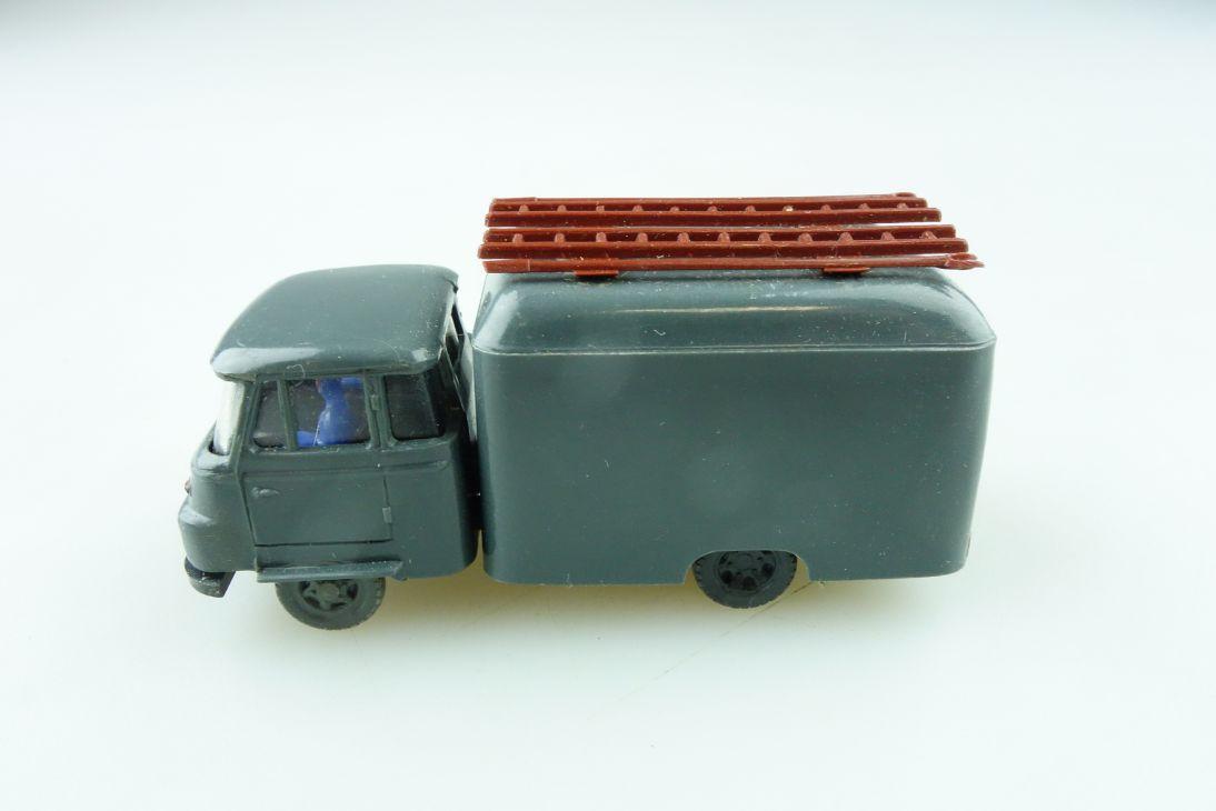 1011/4 Espewe 1/87 IFA Robur Kastenwagen Post Bastler VEB DDR mit Box 511479
