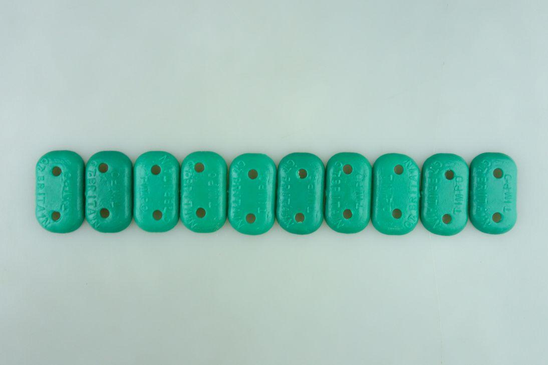 Timpo Sockel 10 Bodenplatten Variante grün mit 2 Löchern 108527
