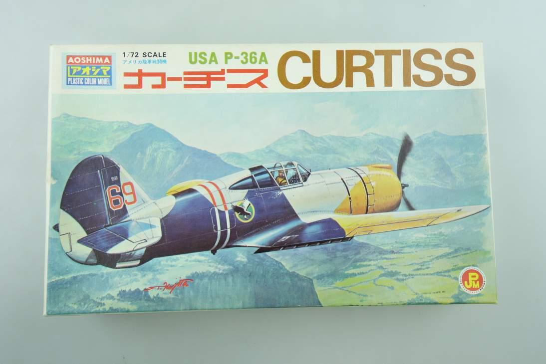 Aoshima 1/72 USA P-36A CURTISS No.307-100 prop plane kit 108510