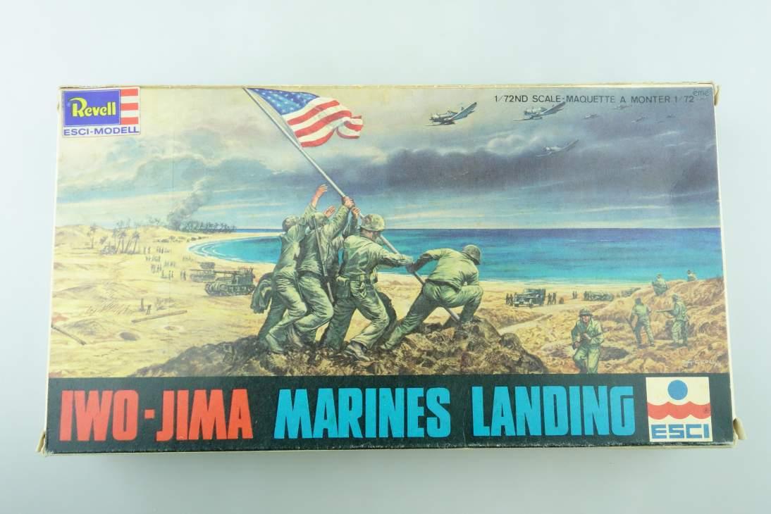 Esci 1/72 Iwo-Jima Marines Landing 8062 vintage model kit 108512