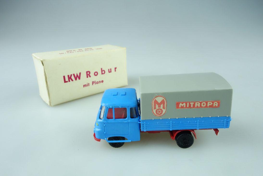 Espewe 1/87 DDR LKW Robur LO 2500 Pritsche Plane beschriftet MITROPA Box 108608