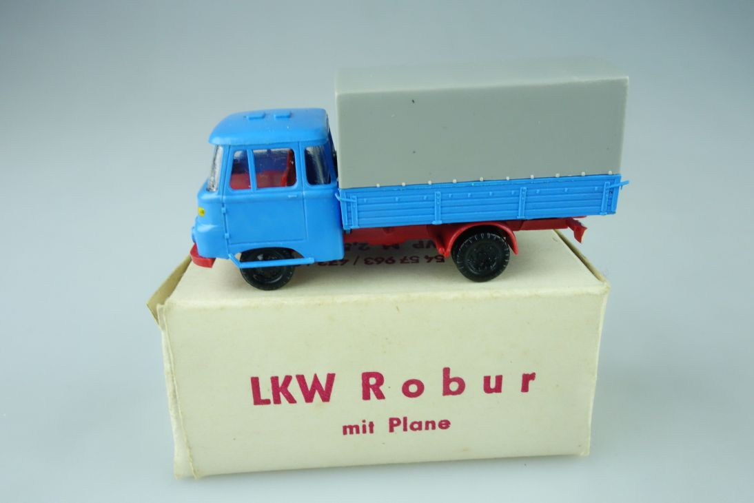 Espewe 1/87 DDR LKW Robur LO 2500 Pritsche Plane Leipz. Modellbahnbau Box 108611