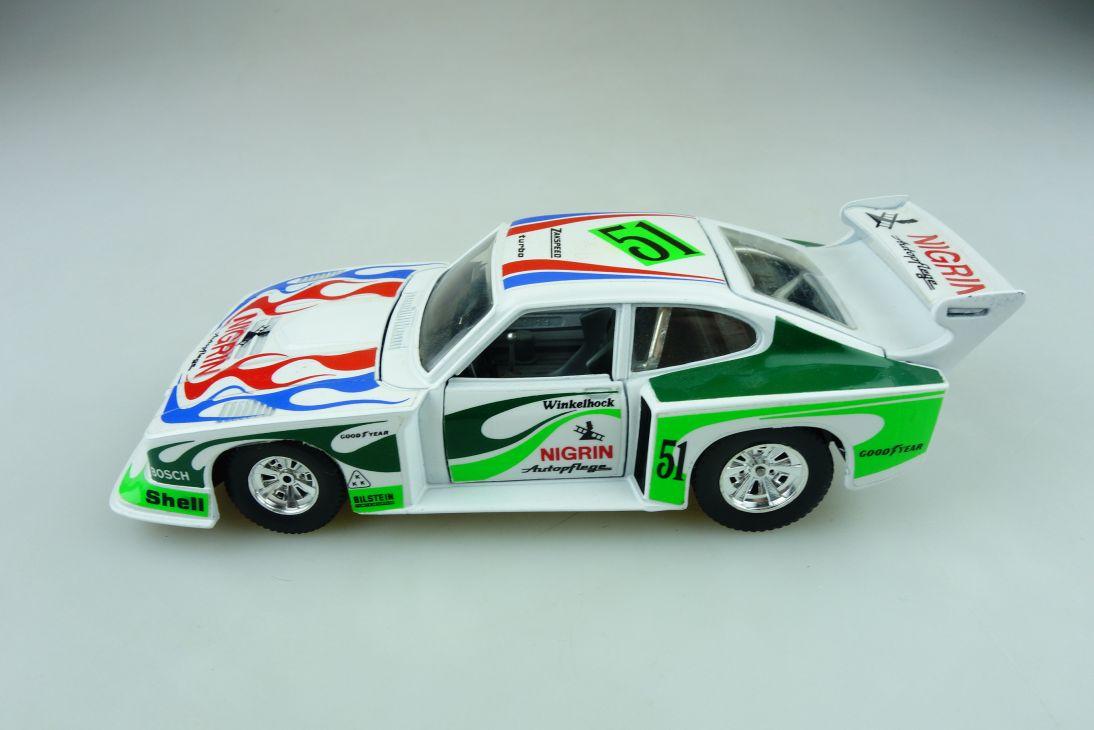 181 Bburago 1/24 Ford Capri Turbo Coupe Zakspeed Winkelhock DTM ohne Box 511602