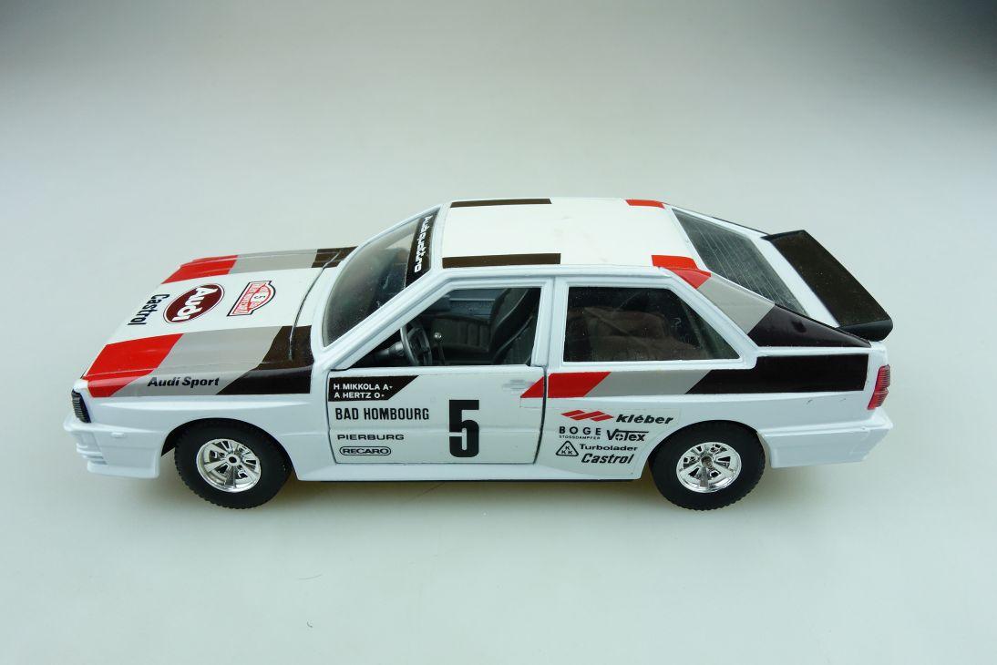 159 Bburago 1/24 Audi Quattro Motorsport DTM Mikkola Hertz ohne Box 511624