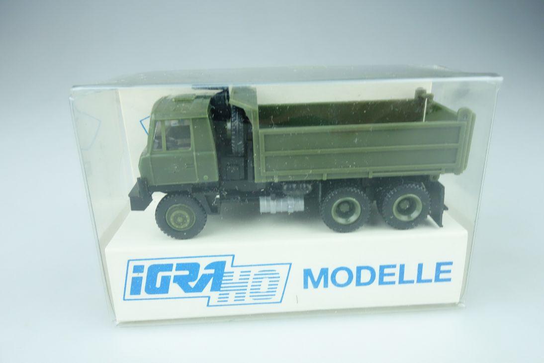 IGRA H0 1/87 Modelle Tatra 815 6x6 Truck LKW Kipper NVA DDR Armee Box 108669