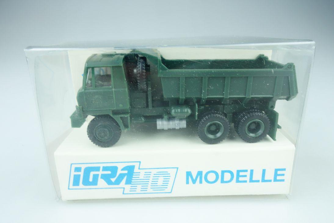 IGRA H0 1/87 Modelle Tatra 815 6x6 Truck LKW Kipper NVA DDR Armee Box 108670