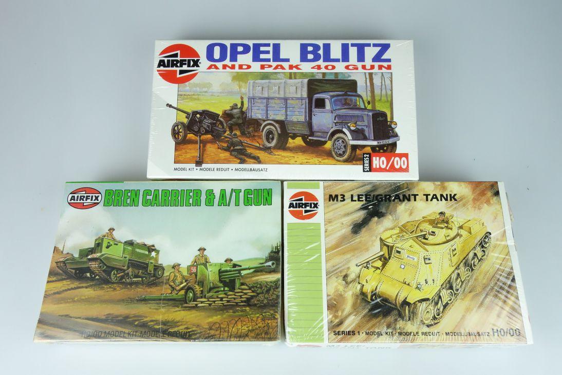 Airfix 1/72 versch. Panzer Konvolut tank vintage model kit H0/00 108621
