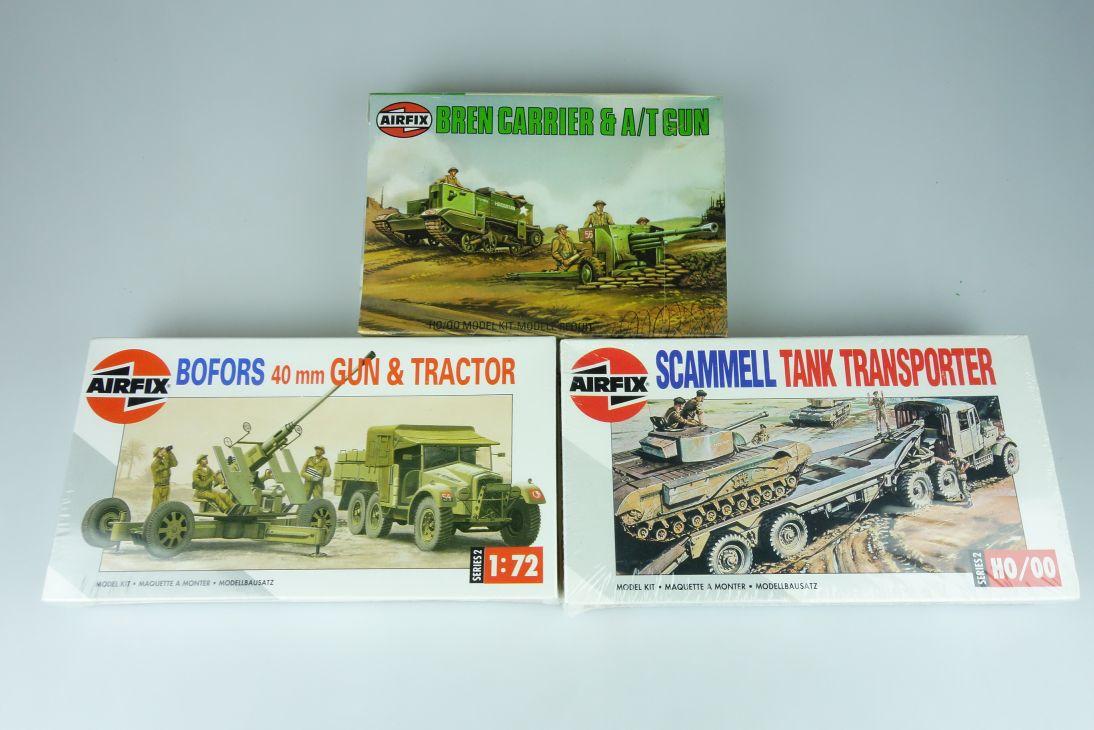 Airfix 1/72 versch. Panzer Konvolut tank vintage model kit H0/00 108623
