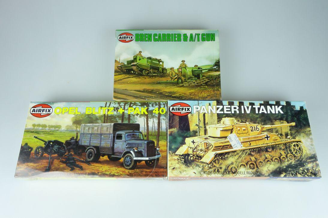 Airfix 1/72 versch. Panzer Konvolut tank vintage model kit H0/00 108626