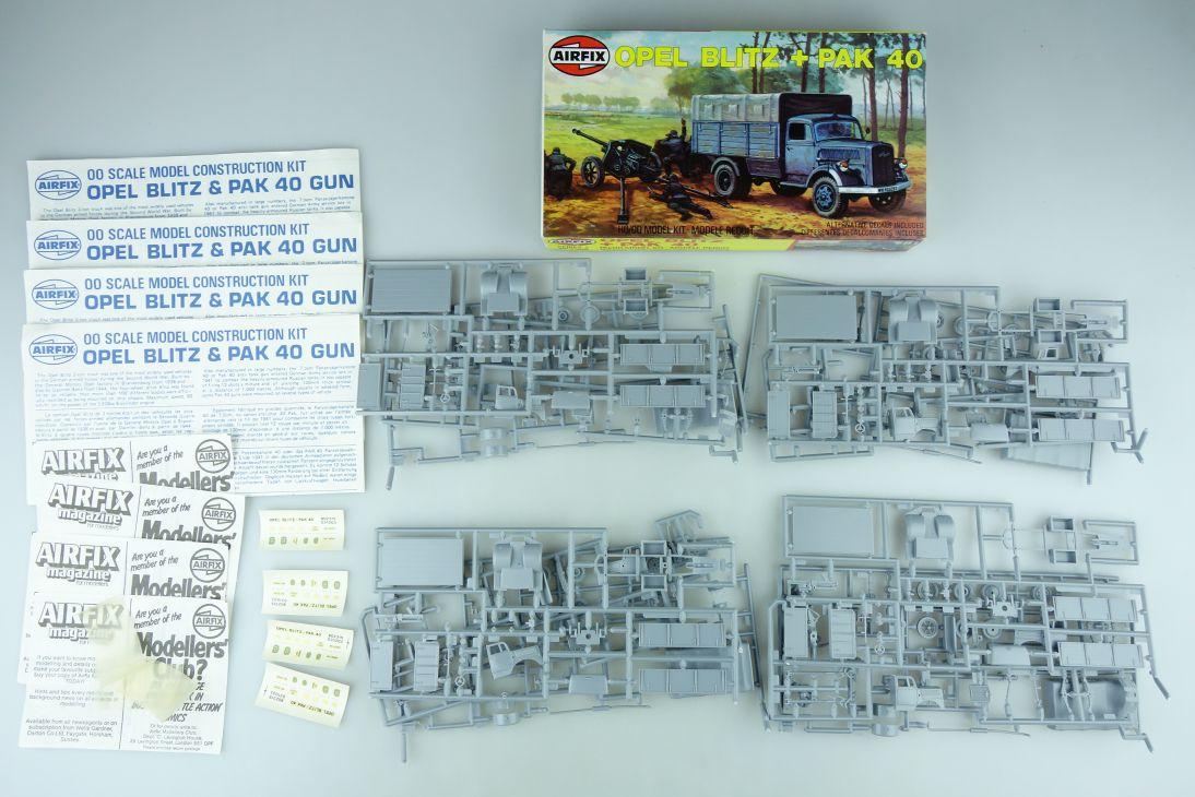 Airfix 1/72 4x Opel Blitz + PAK 40 Gun Series 2 02315 H0/00 kit 108630