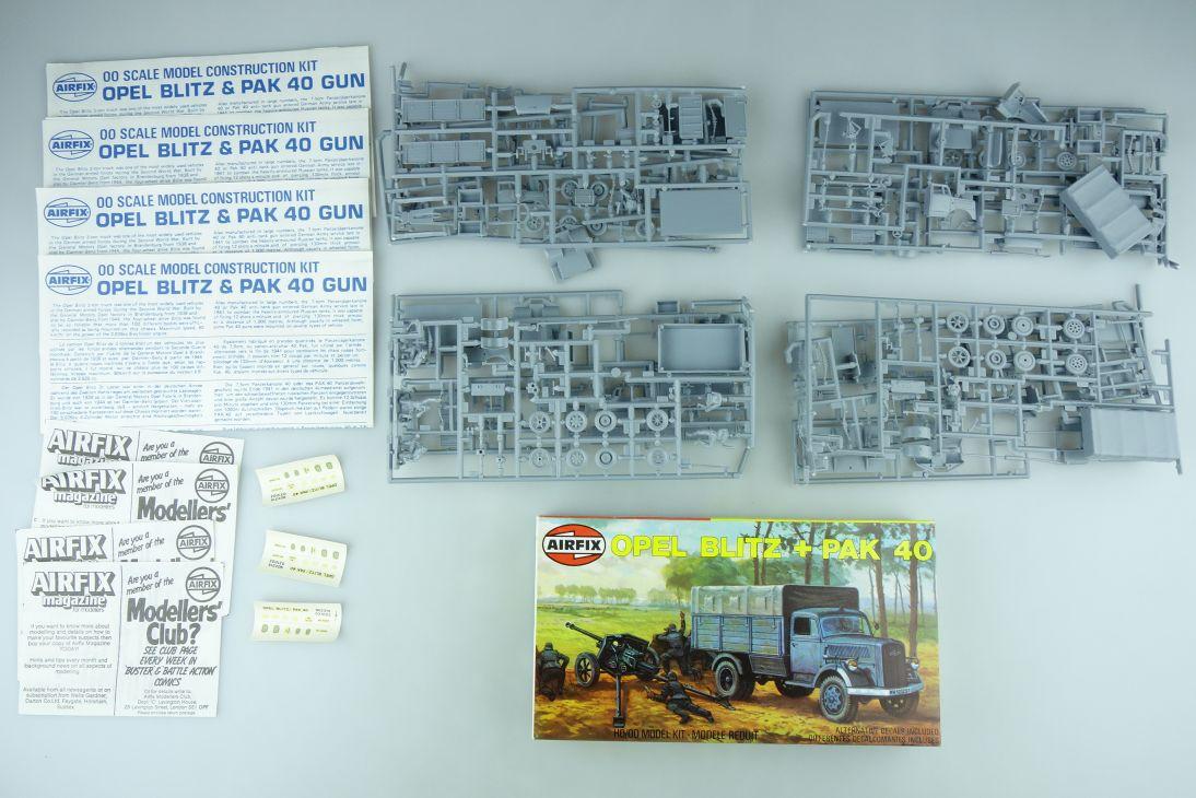Airfix 1/72 4x Opel Blitz + PAK 40 Gun Series 2 02315 H0/00 kit 108632