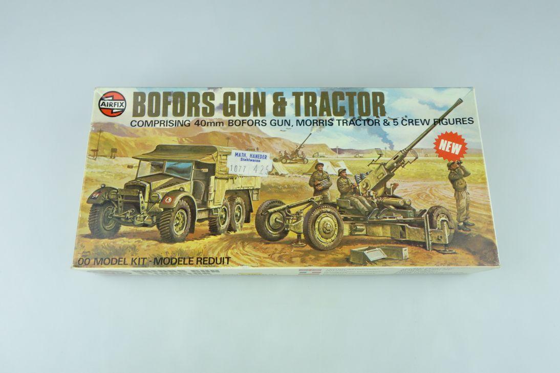 Airfix 1/72 Bofors Gun & Morris Tractor w/ crew 02314-2 H0/00 kit 108634