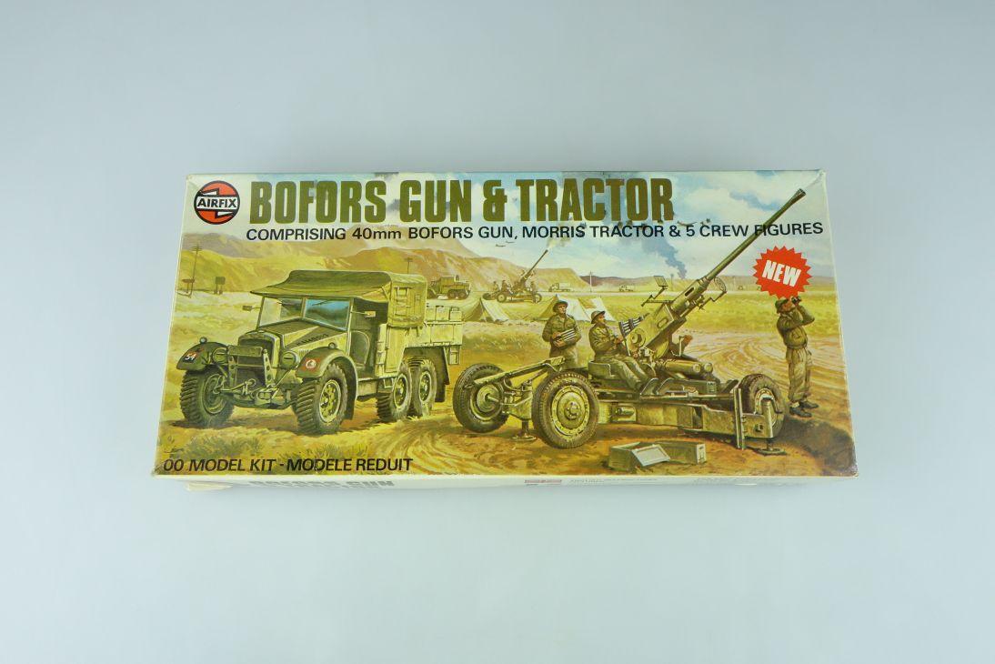 Airfix 1/72 Bofors Gun & Morris Tractor w/ crew 02314-2 H0/00 kit 108637