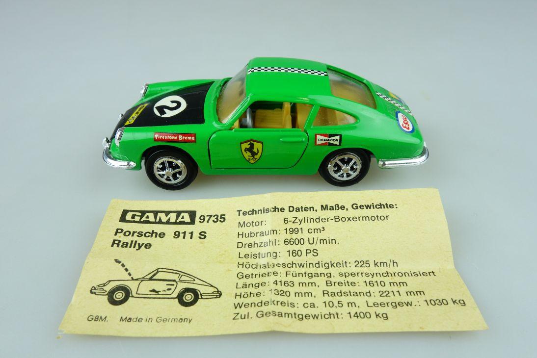 Gama Mini 1/42 Porsche 911 S Rallye 9735 ca. 1/43 Modell Auto 108678