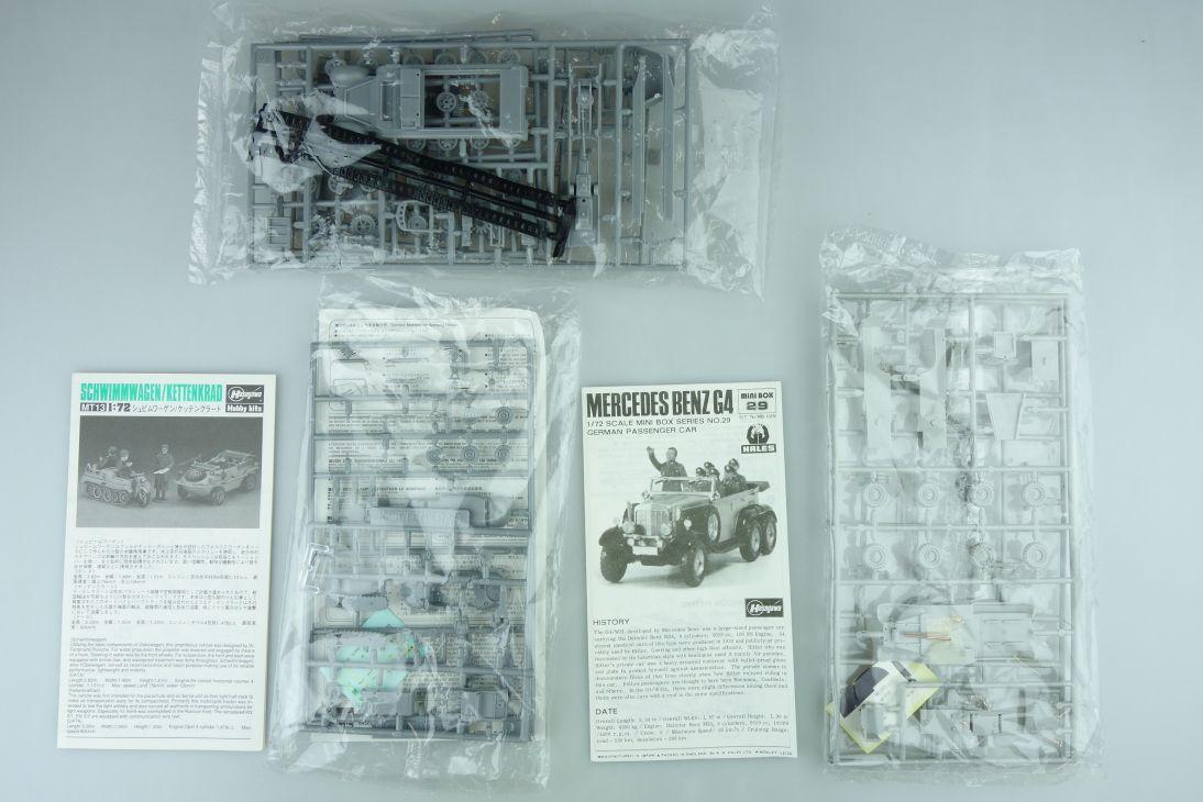 Hasegawa 1/72 versch. Panzer Konvolut vintage model kit 108649