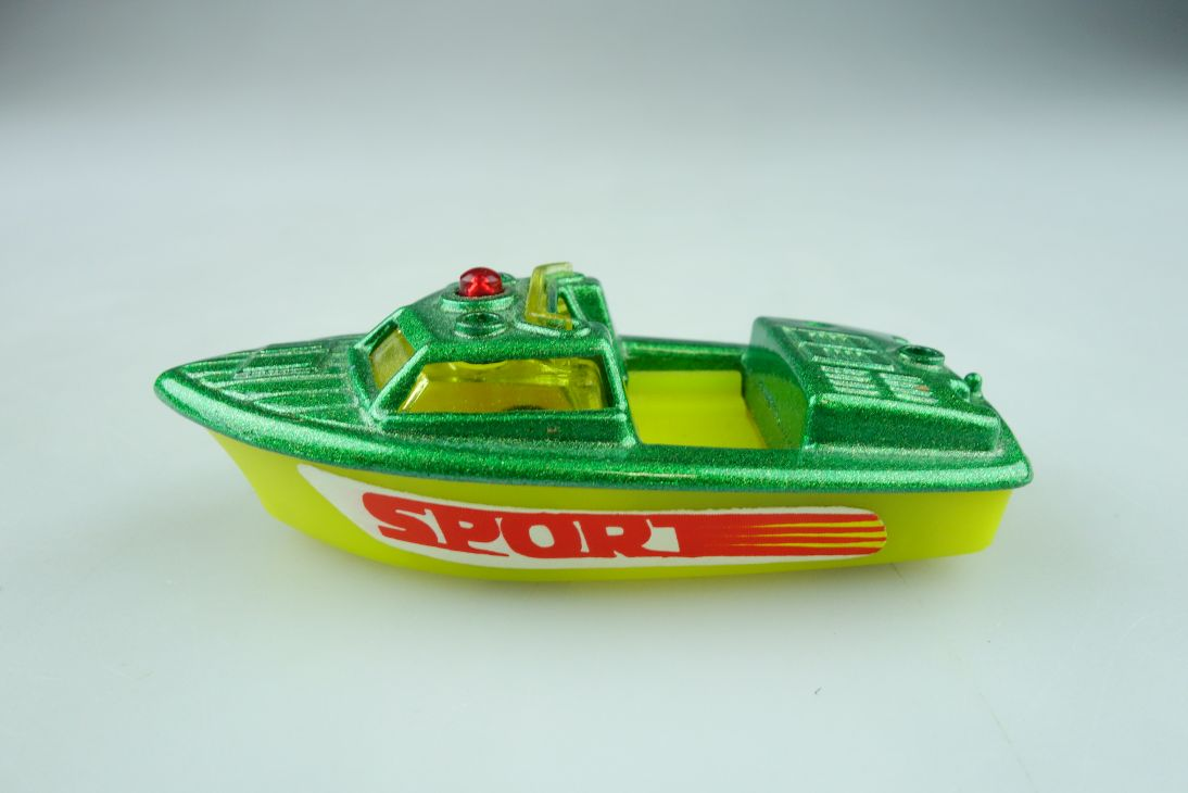 Sportboot Torpedo 1/70 Police Launch Modell Boat Metall Plastik ohne Box 511644