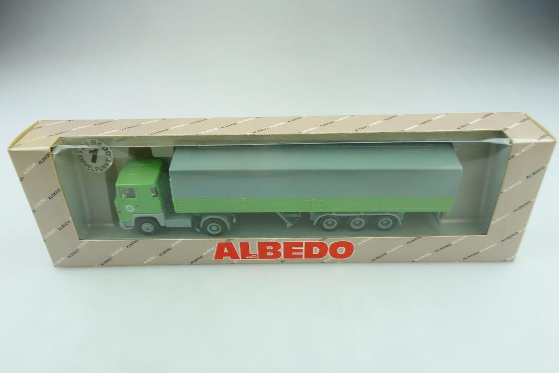Albedo 1/87 Scania 111 EKB Pritschensattelzug Kieserling mit Box 511650
