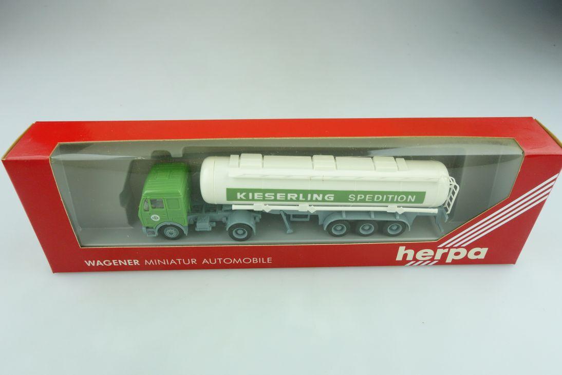 811155 Herpa 1/87 Mercedes Benz EKB Tank Sattelzug  Kieserling mit Box 511652