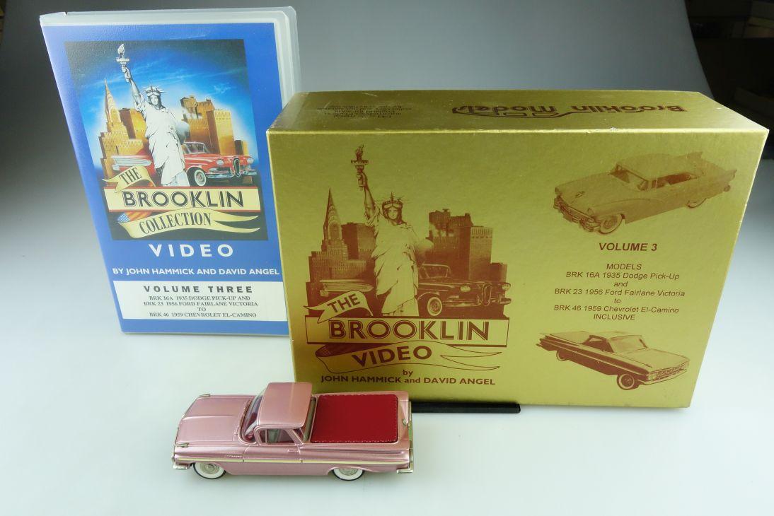 46 Brooklin 1/43 Chevrolet El Camino 1959 Pickup & Video & CD mit Box 511703