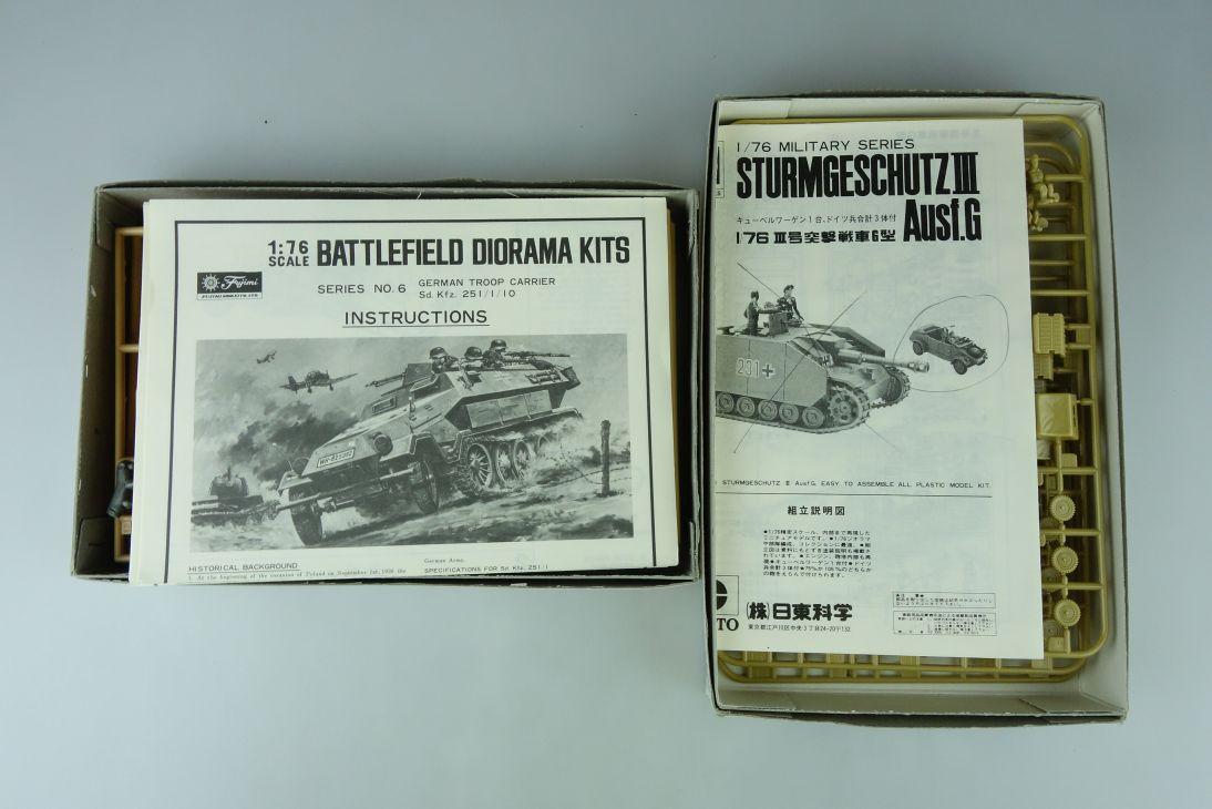 Fujimi/Nitto 1/76 Sd.Kfz.251/1//10 / 3x Kübelwagen Konvolut model kit 108733