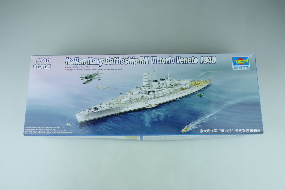 Trumpeter 1/700 Italian NavyBattleship RN VittorioVeneto 1940 No05778 kit 108747