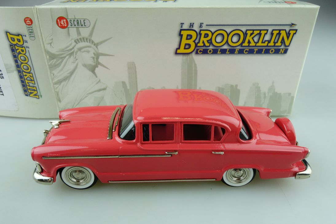 135 Brooklin 1/43 Hudson Hornet 4 Door Sedan 1955 coral red mit Box 511729