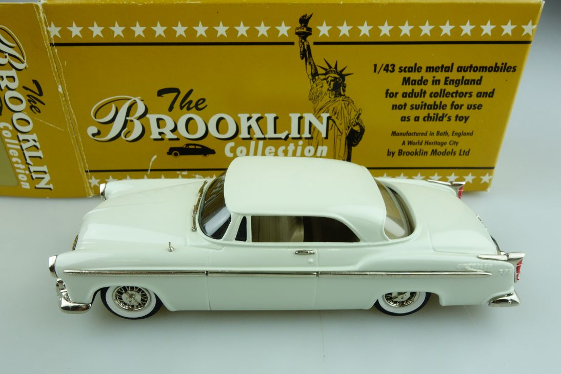 19a Brooklin 1/43 Chrysler C 300 Hardtop Coupe 1955 white mit Box 511734