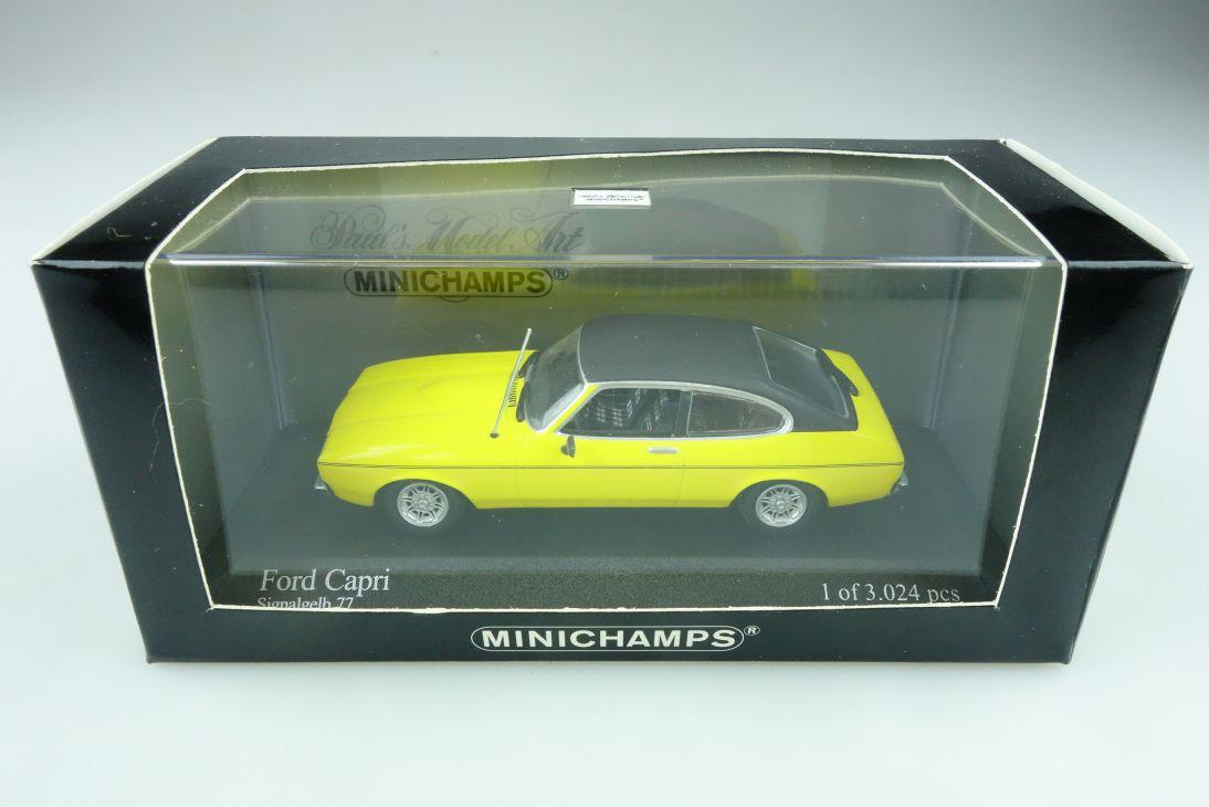 400081200 Minichamps 1/43 Ford Capri II Coupe signalgelb 77 mit Box 511743