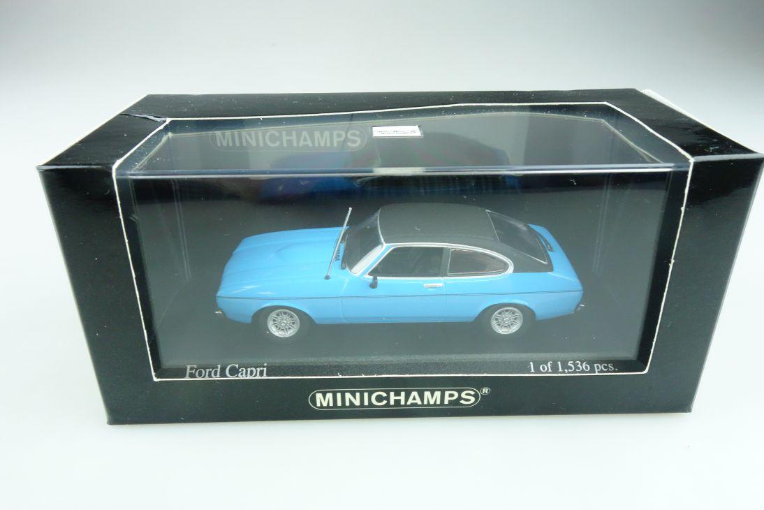 400081206 Minichamps 1/43 Ford Capri II Coupe Olympic blau 74 mit Box 511744