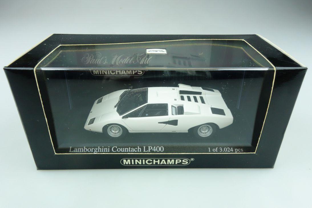430103104 Minichamps 1/43 Lamborghini Countach LP 400 bianco mit Box 511745